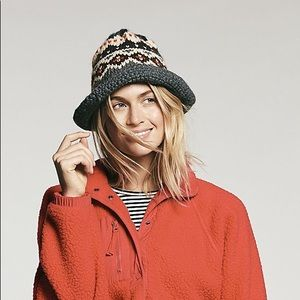 8c0df6da4c7df Free People Accessories - Free People Berry High Road Fairisle Bucket Hat
